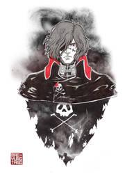 Inktober 4-8: Captain Harlock by MaeMaeTwin