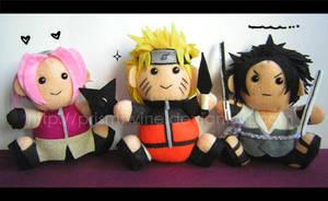 NS: Naruto, Sasuke and Sakura by prismtwine