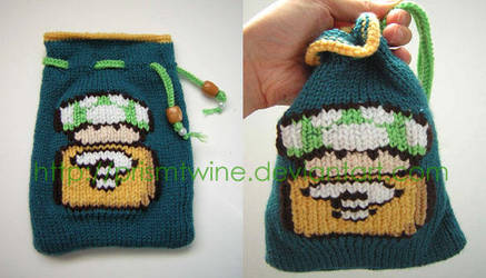 Mushroom and block pouch by prismtwine