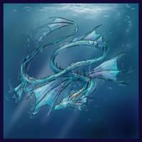Elemental Dragon: Water by Pseudolonewolf