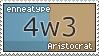 Enneatype 4w3 Stamp by Pseudolonewolf