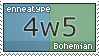 Enneatype 4w5 Stamp by Pseudolonewolf
