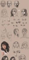 Sketchbook 2013 - More Face Studies by Pseudolonewolf
