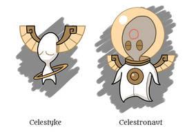 Celestyke and Celestronaut by Pseudolonewolf