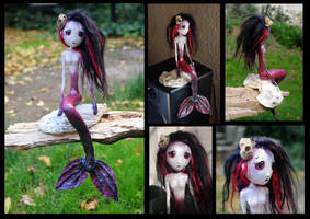 ASRA the mermaid of the Blood Sea. Art doll. by Lauramei