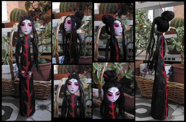 OOAK Art Doll: Akame the Chinese ghost by Lauramei