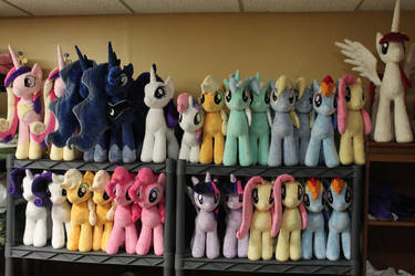 Bronycon Plushies by WhiteDove-Creations