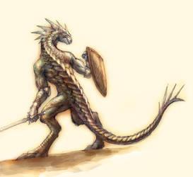 Lizardman by Yamatohekatsue