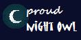proud night owl stamp by InkyWings
