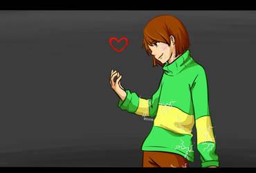 (Glitchtale) Goodbye Chara by RinSarahMoin29