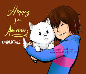1st Anniversary for Undertale by RinSarahMoin29