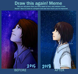 Meme Before and After: Starry Sky by RinSarahMoin29