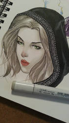 head sketch playing with copics by Sajad126
