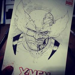 Zombie Wolverine SketchCover by Sajad126