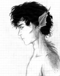 Observant (sketch) by Arnethiel