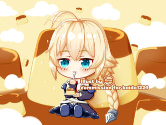 Commission - Es Chibi from BlazBlue by leemuel01