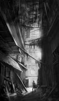 Kowloon Walled City by Alex-Chow