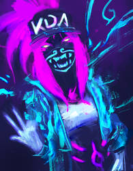 Bad Gal (K/DA Akali - League of Legends) by Alex-Chow