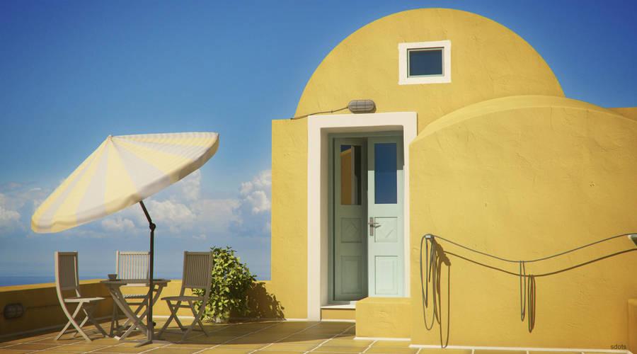 Mykonos City terrace by sdots
