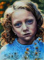Girl and chamomile by PutyatinaEkaterina