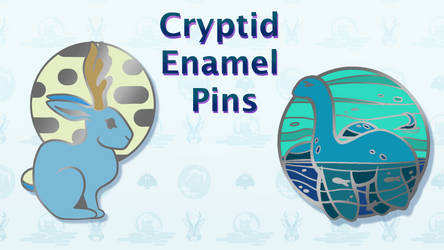 Cryptid Enamel Pin Kickstarter by wolfbanefoxglove