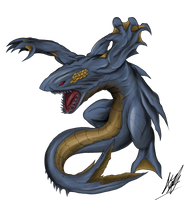 Kaiju Codename: Vezardon by M60-Carnifex