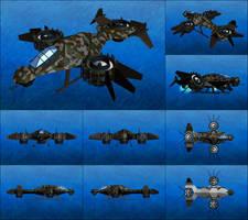 AAV-222 Dragonfly Gunship by Raven-Gold