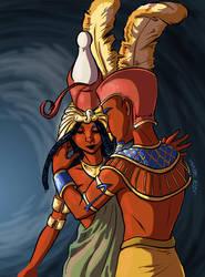 The Gods - Amon and Mut by MadFretsy