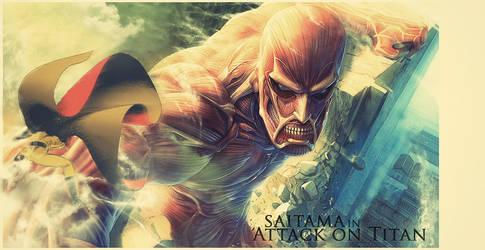 Saitama in Attack on titan by 2011991