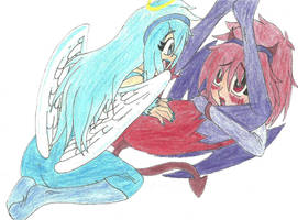 Angelus and Devilus by Scryied