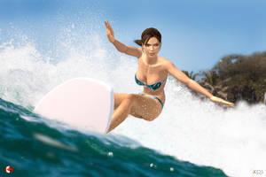 140809_Lara_surfs_2 by McGaston
