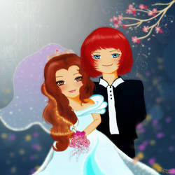 Ron and Hermione's wedding by roshducky