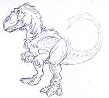 Fuzzy Dinosaur by Corysaur