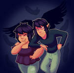 Trouble twins by RisingStarWitch