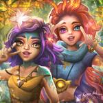 Neeko and Zoe fanart by KonoArt