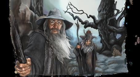 Gandalf, Ranagast and Sebastian by vastarantakettu