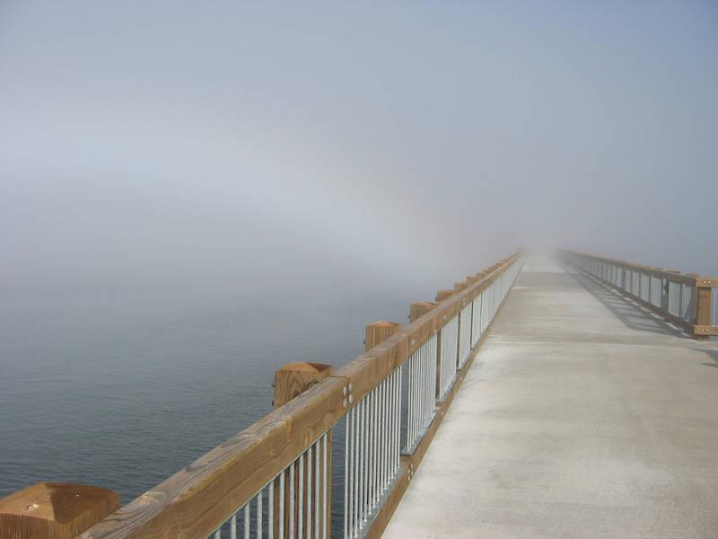 Foggy Boardwalk by incongruent-stock