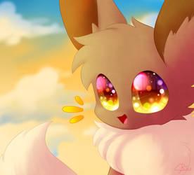 Happy Eevee Day! uvu by LittleMoon-Chan