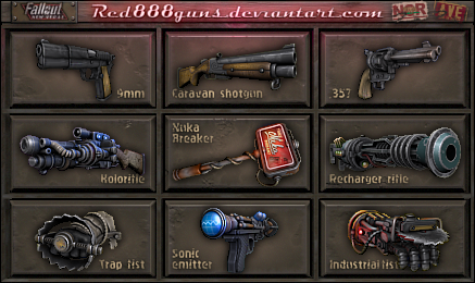 Fallout New Vegas Weapons For Classic Fallout By Red888guns On