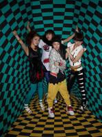 3D 2NE1 by DarkSoulKagome90