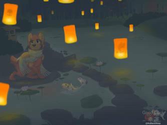 .GoodLuck: Lantern Night.+ by ShyBlackSheep