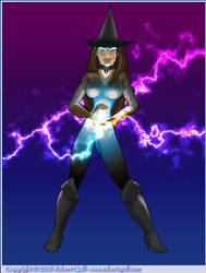 Lightning Witch in Bodystockin by robertquill