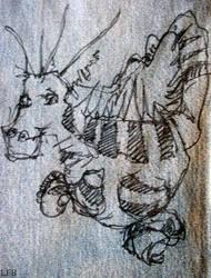 Sharpie Dragon by spungleah