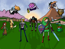 The Legend of Zelda: Ocarina of Adventure Time by Darkagnt210
