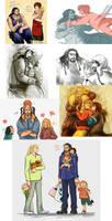 The Hobbit Doodles* by Hadog