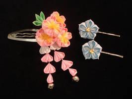 Commission - Sakura and Kikyou by thedrunkenprincess