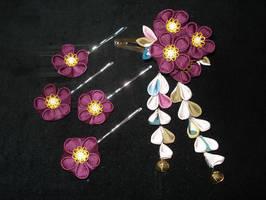 Commission - Kimono Silk Set by thedrunkenprincess