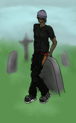 Mel In A Graveyard by Octapode