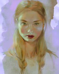 Face Doodle 09-23 by elleCrombie