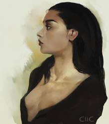 Portrait practice - 03 - 13 - 18 by elleCrombie